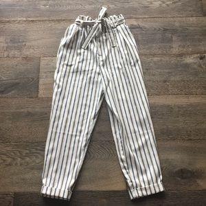 Cinched waist dress pants